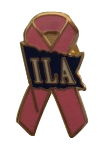 ILA Ribbon Pink Out Lapel Pin